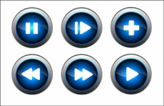 Blue Free Vector Buttons
