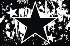 Black and White Star Grunge