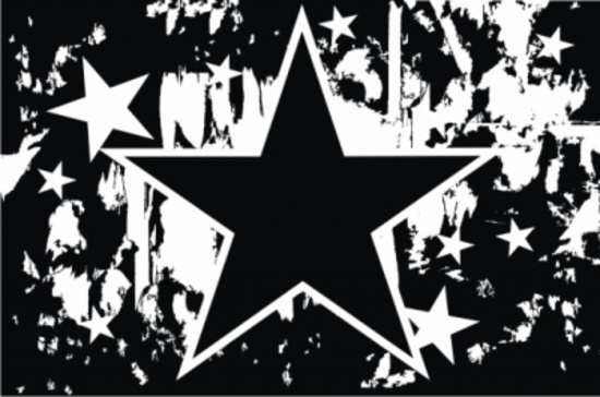 Black and White Star Grunge