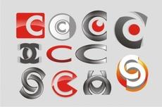 Free 3D C Vector Logos