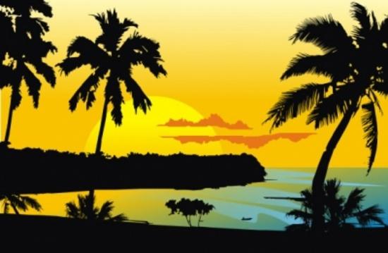 Tropical Destination Vector