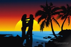 Romantic Beach Free Vector