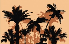 Tropical Trees Vector Set