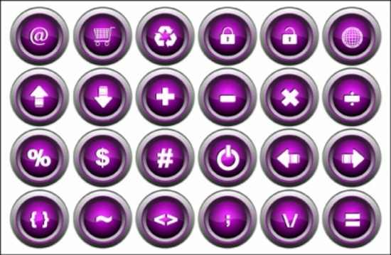 Vector Buttons - Vector Icons