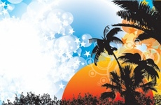 Cool Tropical Vector Design