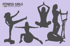 Free Silhouettes Fitness Vectors Kit