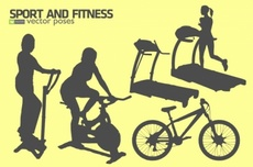 Free Fitness Silhouettes Vector Kit