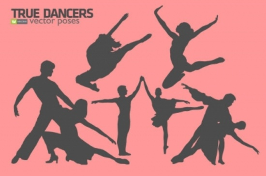 Free Vector Silhouettes Dancers
