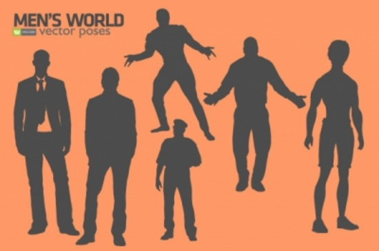 Free Men Vector Graphic Silhouette