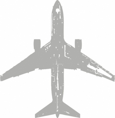 Grungy Airliner Vector