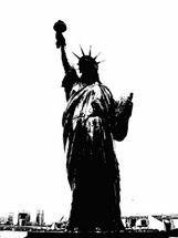 New York and Statue of Liberty Vector