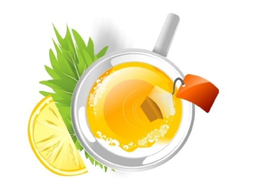 Cop of Hot Tea - Vector