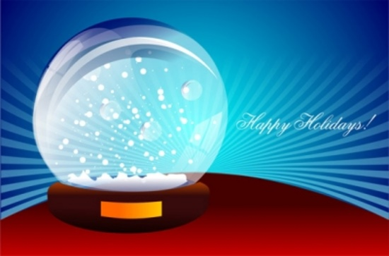 Happy Holidays Free Vector Design