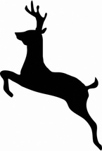 Jumping Deer Free Vector
