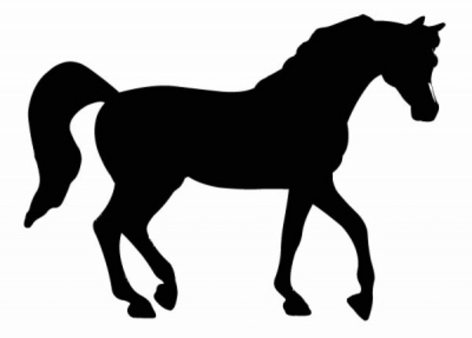 Horse Shape Vector