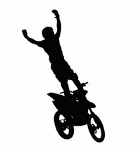 Motor Cross Rider Free Silhouettes Vector