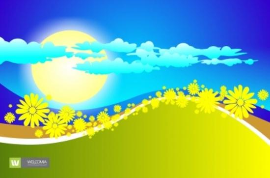 Summer Meadow Free Vector Design
