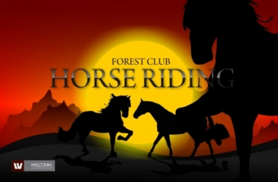 Horses and Sunset Vector Design