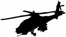 Apache Helicopter - Free Vector