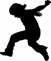 Jumping Men Vector Silhouette