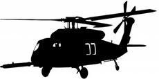 Military Helicopter Vector Graphic