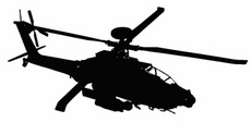 Apache Military Helicopter Vector
