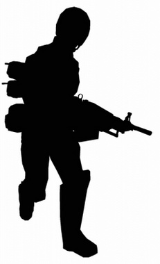 Running Soldier Vector Graphic