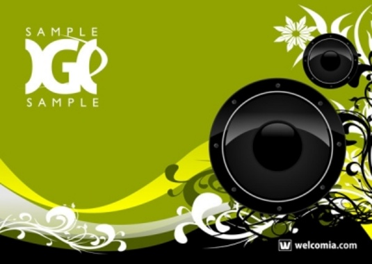 Music and Floral Free Vector Design