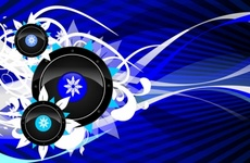 Cool Blue Free Vector Design