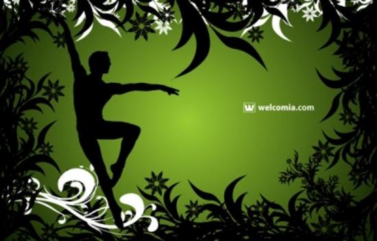 Free Ballet Dancer Vector Design
