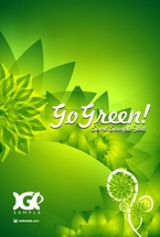 Go Green Vector Design