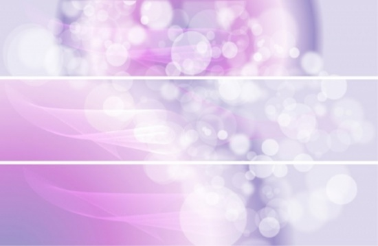 Soft Pink Vector Bokeh Banners