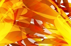 Cool Orange Abstract Design
