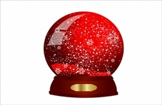Crystal Glass Christmas Ball Vector
