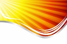 Orange Rays of the Sun Free Design