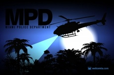 Miami Police Helicopter Vector Design