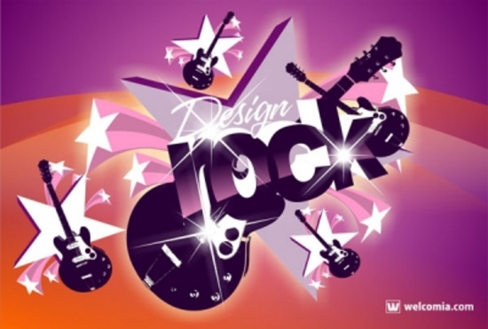 Cool Rock Vector Design