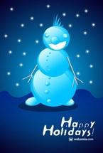 Funny Vector Snowman