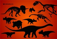 Free Dinosaurs Silhouettes