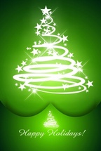 Cool Green Christmas Vector