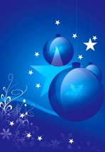 Blue Christmas Vector Design