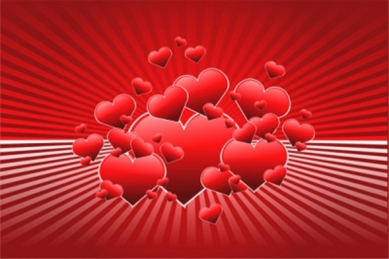 Free Vector Hearts - Valentines Day