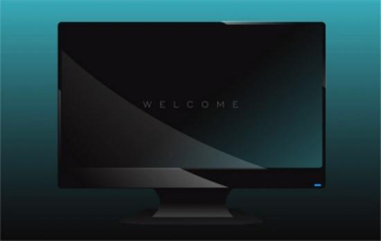 Flat TV Screen Free Vector