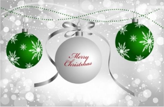Silver Christmas Vector Design
