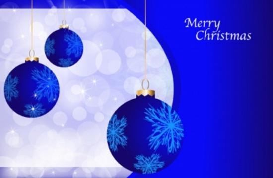 Blue Holidays Vector