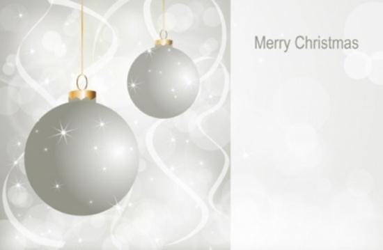 Elegant Holiday Vector Postcard
