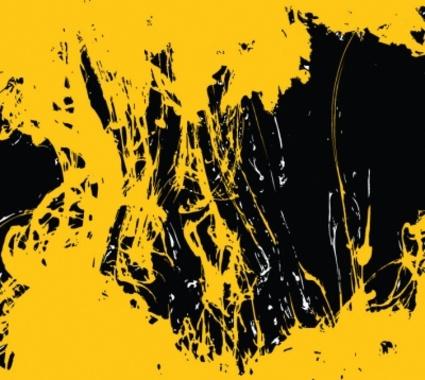 Black Yellow Free Vector Grunge