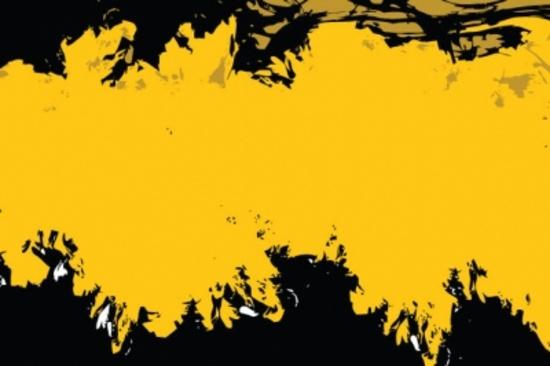 Yellow Black Grunge Free Vector