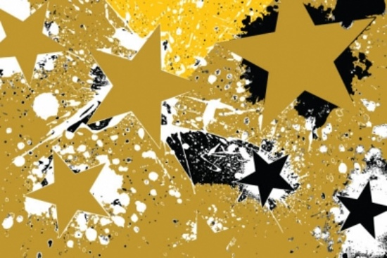Grunge Stars Free Vector
