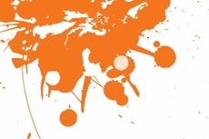 Orange Splash Free Vector